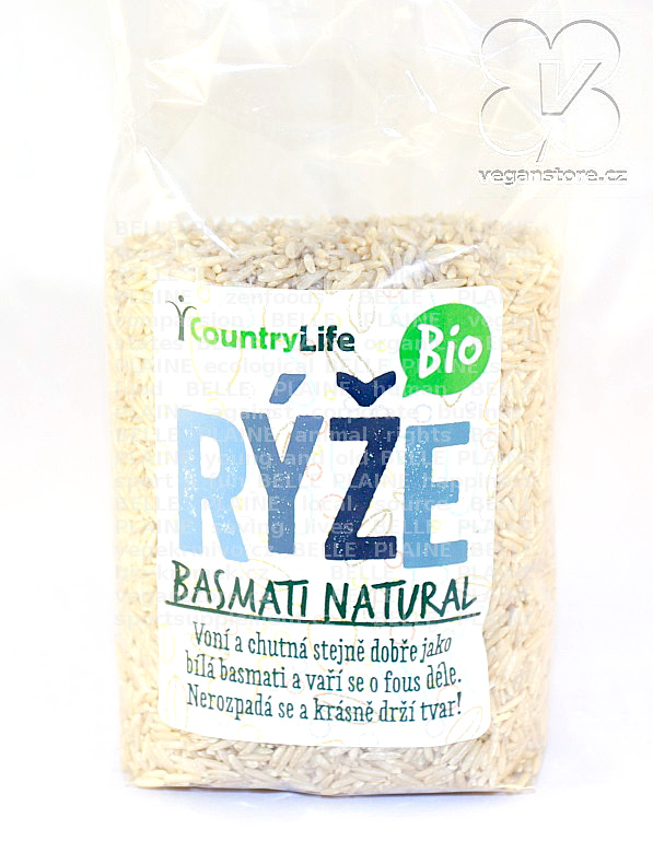 Rýže basmati natural Bio 500g Country life